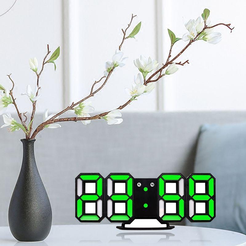 Nouvelle-Horloge-Murale-Moderne-de-3D-LED-Horloge-Murale-Numerique-SC miniature 9