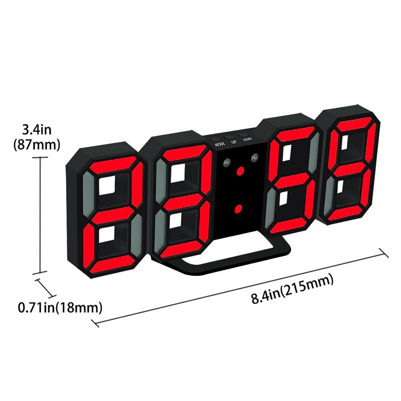 Nouvelle-Horloge-Murale-Moderne-de-3D-LED-Horloge-Murale-Numerique-SC miniature 13
