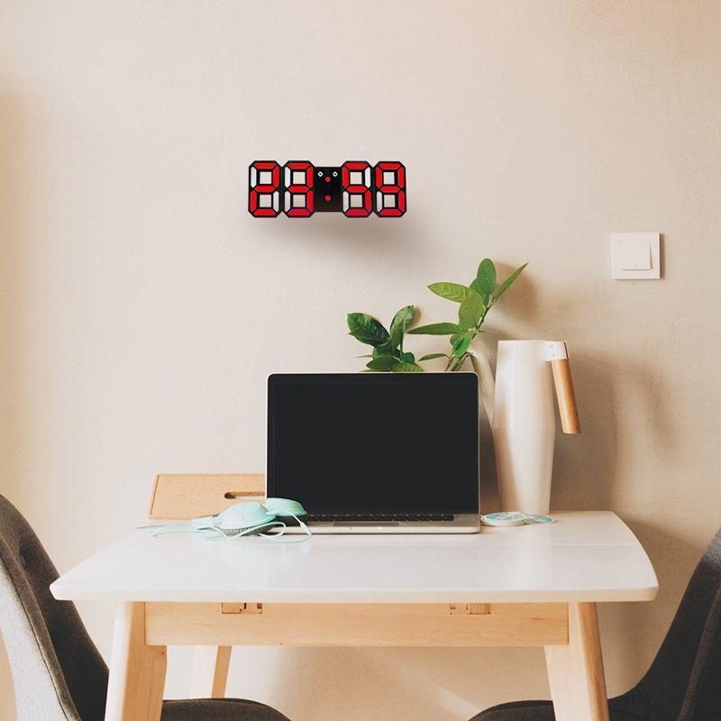 Nouvelle-Horloge-Murale-Moderne-de-3D-LED-Horloge-Murale-Numerique-SC miniature 15