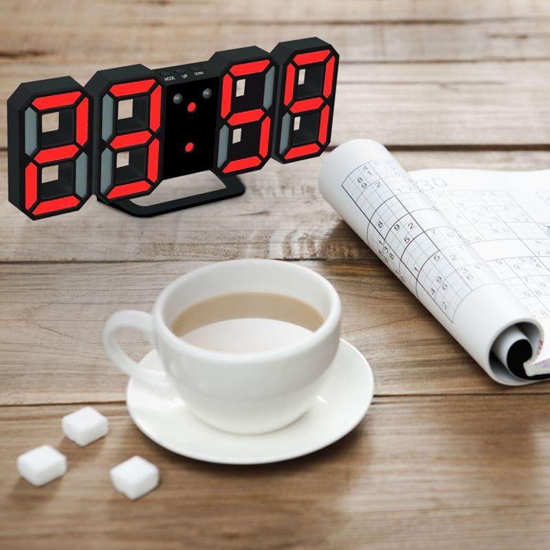 Nouvelle-Horloge-Murale-Moderne-de-3D-LED-Horloge-Murale-Numerique-SC miniature 16
