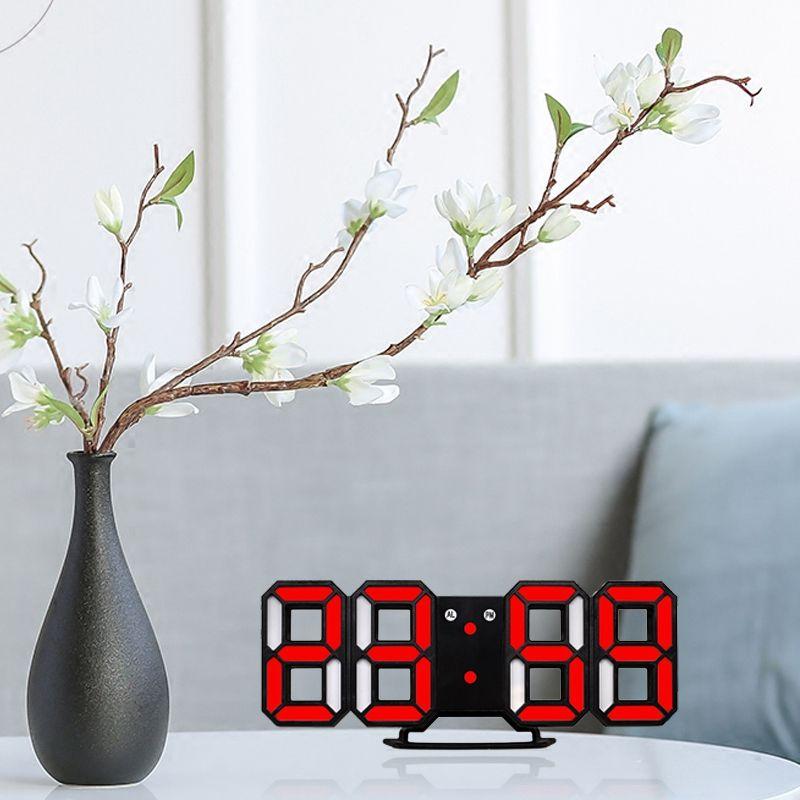 Nouvelle-Horloge-Murale-Moderne-de-3D-LED-Horloge-Murale-Numerique-SC miniature 18