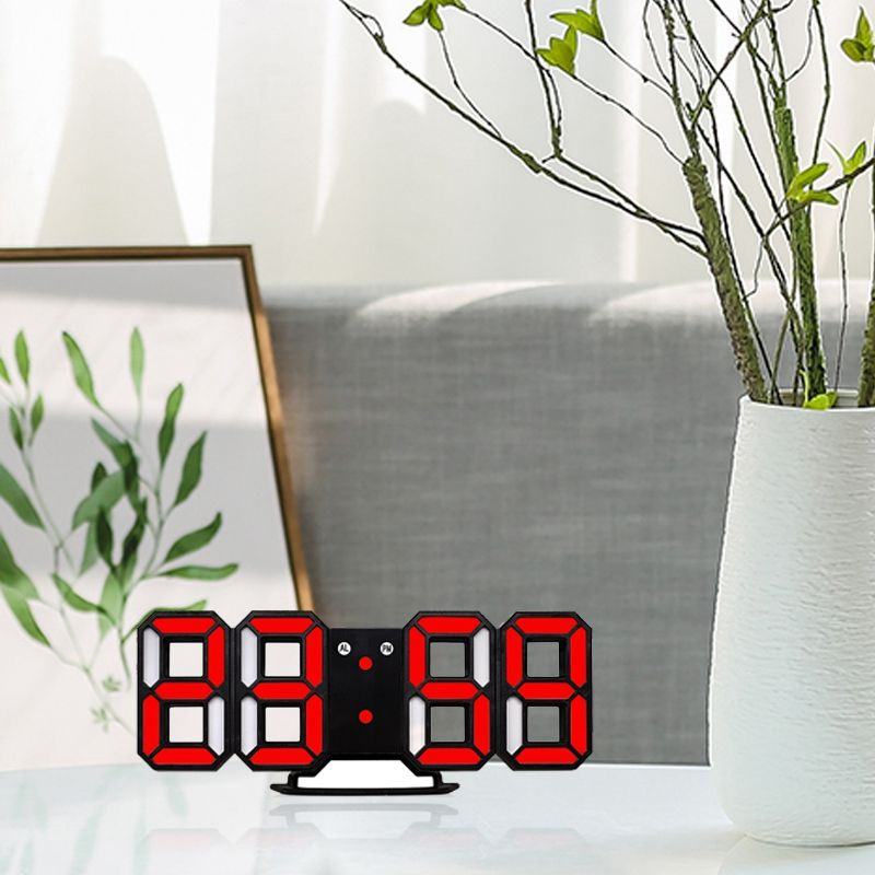 Nouvelle-Horloge-Murale-Moderne-de-3D-LED-Horloge-Murale-Numerique-SC miniature 19