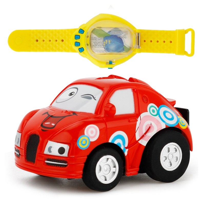 Blau Mini RC Auto Racing Car Spielzeug in der Getraenkedose 1:58 5X B5T8