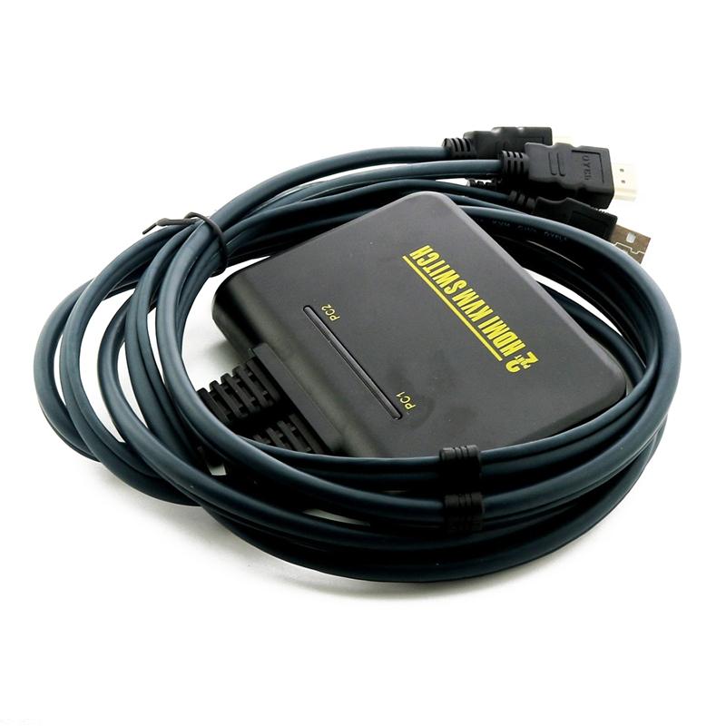 1x2 port usb hdmi kvm umschalter mit kabel fuer dual. Black Bedroom Furniture Sets. Home Design Ideas