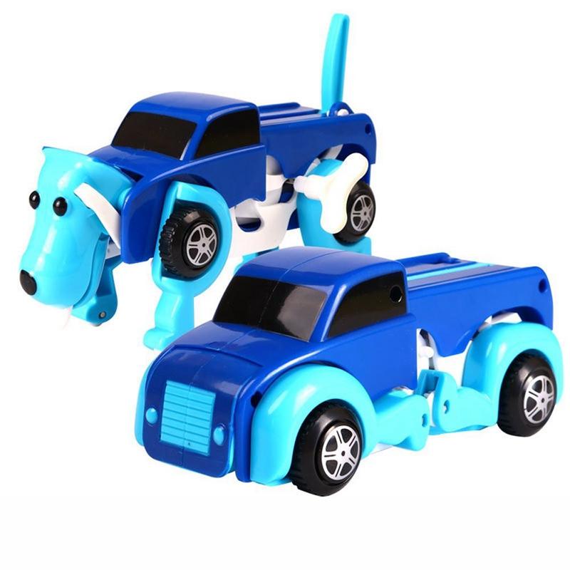 5X-New-Dog-Dinosaur-Car-Transformer-Transform-Auto-Cute-Cool-Boy-Girl-Toy-G-E4F7