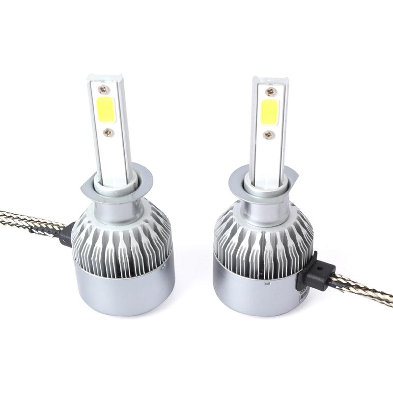 3X-Nouveau-2-pcs-C6-LED-Phare-de-Voiture-Kit-COB-H1-36-W-7600LM-Blanc-Ampoul-RW1 miniature 7
