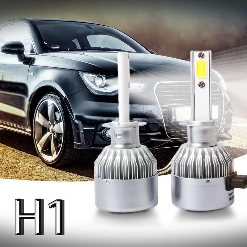 3X-Nouveau-2-pcs-C6-LED-Phare-de-Voiture-Kit-COB-H1-36-W-7600LM-Blanc-Ampoul-RW1