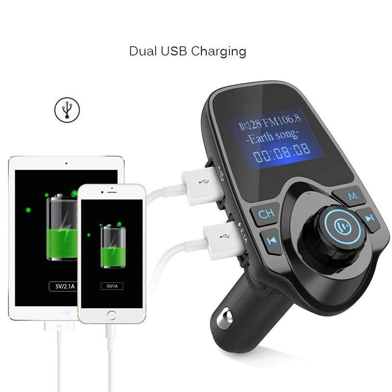 new wireless lcd bluetooth car kit mp3 fm transmitter aux. Black Bedroom Furniture Sets. Home Design Ideas