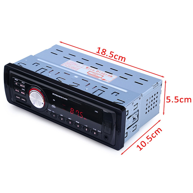2018 new car radio 12v auto audio stereo dvd mp3 player fm. Black Bedroom Furniture Sets. Home Design Ideas