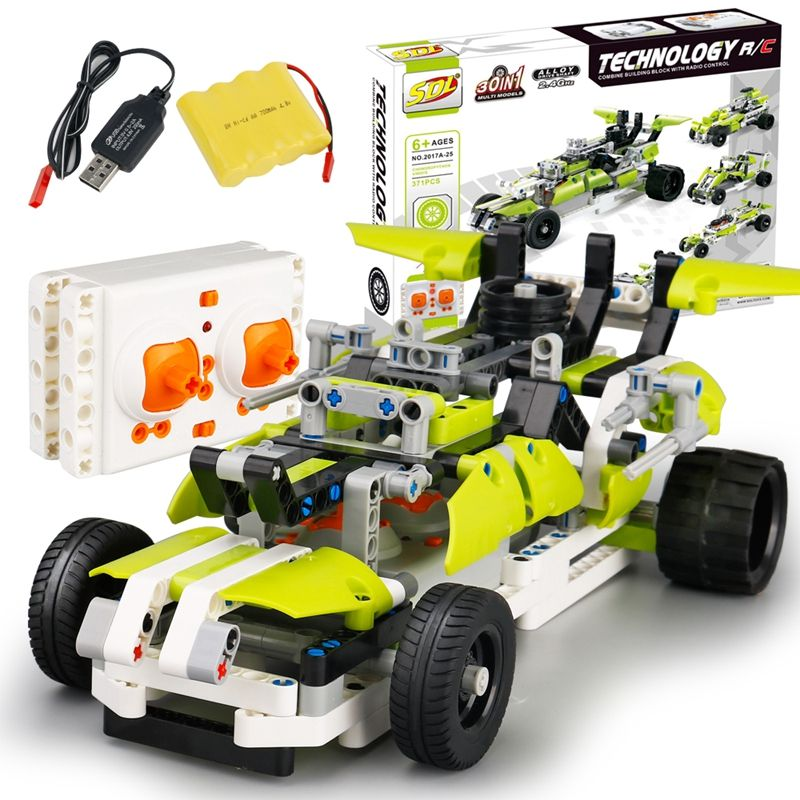 SDL-Nuevo-2-4G-1-16-Coche-RC-Juguete-rompecabezas-de-empalme-DIY-electrico-R7H1 miniatura 8