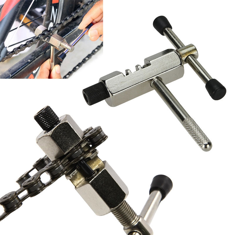 Bike Steel Chain Breaker Repair Tool Splitter Cutter For Bicycle Cycling HS1