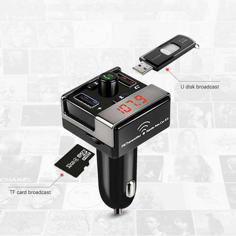 transmetteur fm bluetooth pour voiture lecteur mp3 radio double usb port lc y4i8 ebay. Black Bedroom Furniture Sets. Home Design Ideas