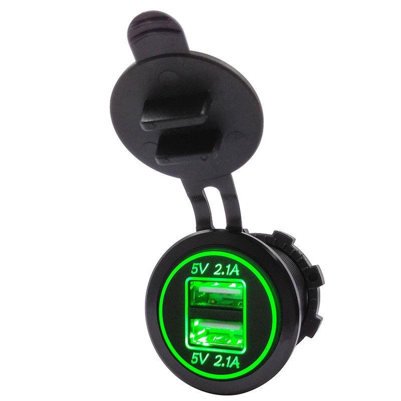 5V-4-2A-Dual-2USB-Charger-Socket-Adapter-Power-Outlet-for-12V-24V-Car-Motor-Y4O2 miniatuur 5