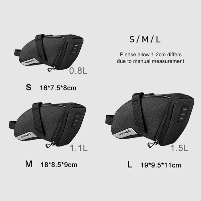 ROSWHEEL-2018-New-131470-0-8L-S-Water-Resistant-Cycling-Bike-Tail-Bag-B7C8 thumbnail 8