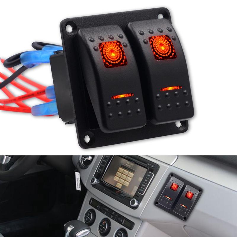 7x (AUTO RV modificata 2 FORI-piastra di  tuttiuminio 5pin nessun motivo DOPPIO-luce j6  marchio in liquidazione