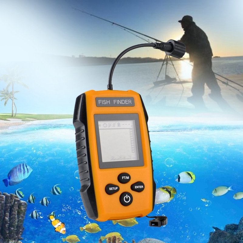5X(2018 Detecteur de poissons portable Sonar d'alarme sans fil LCD Sondeur fi U4