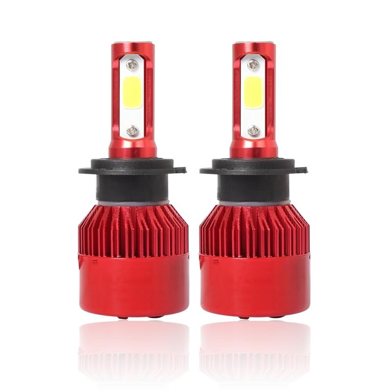 3X-S2-H7-Ampoules-LED-pour-phares-de-voiture-6500K-72W-8000LM-COB-Lampe-fro-4L1 miniature 2