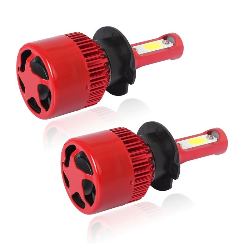 3X-S2-H7-Ampoules-LED-pour-phares-de-voiture-6500K-72W-8000LM-COB-Lampe-fro-4L1 miniature 3