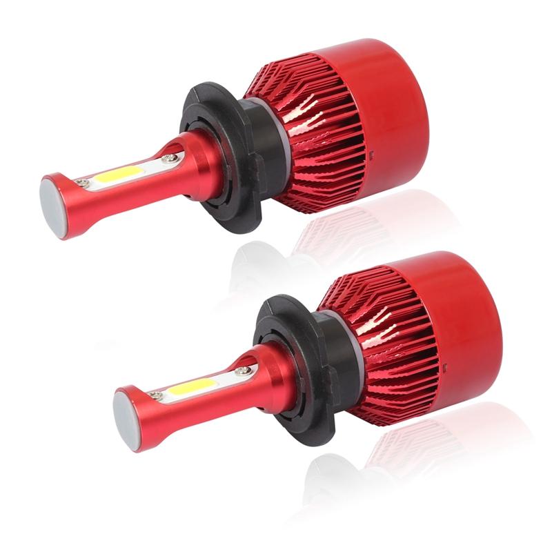 3X-S2-H7-Ampoules-LED-pour-phares-de-voiture-6500K-72W-8000LM-COB-Lampe-fro-4L1 miniature 5