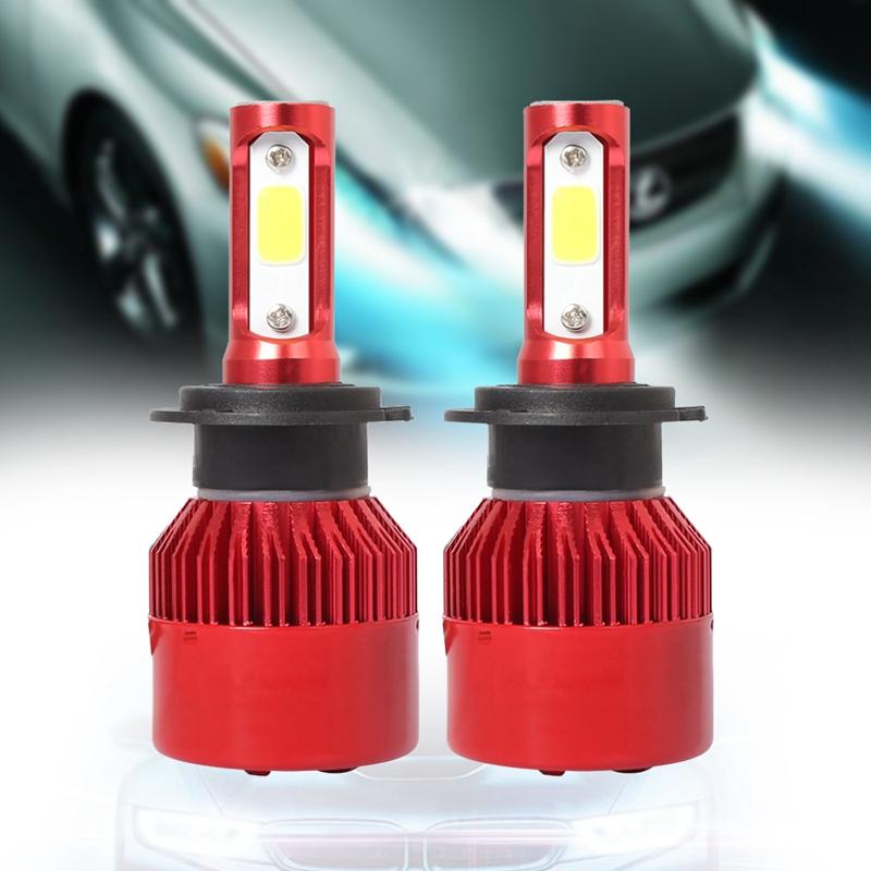 3X-S2-H7-Ampoules-LED-pour-phares-de-voiture-6500K-72W-8000LM-COB-Lampe-fro-4L1