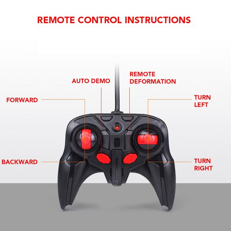 1-18-Transformadores-Coche-de-control-remoto-inalambrico-Juguete-para-ninos-F6C4 miniatura 11