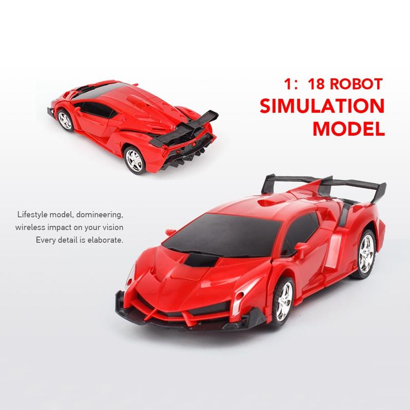1-18-Transformadores-Coche-de-control-remoto-inalambrico-Juguete-para-ninos-F6C4 miniatura 12