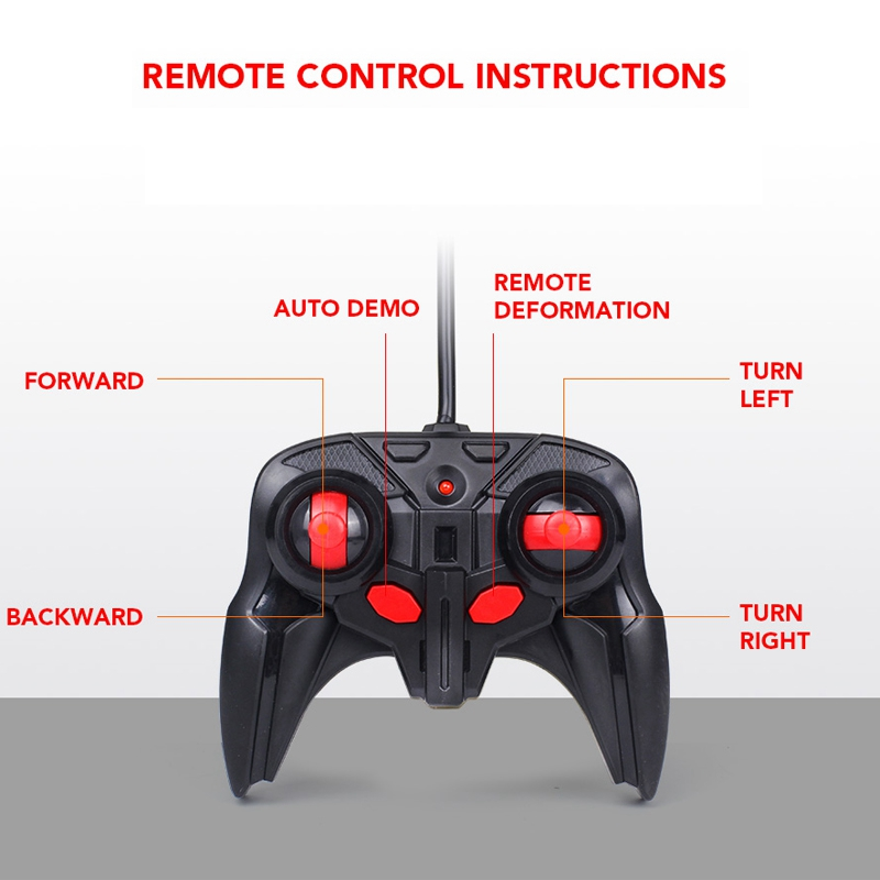 1-18-Transformadores-Coche-de-control-remoto-inalambrico-Juguete-para-ninos-G8G4 miniatura 9