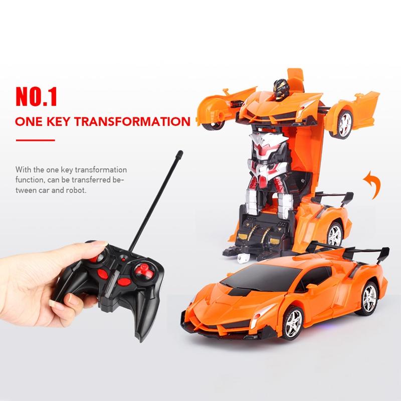 1-18-Transformadores-Coche-de-control-remoto-inalambrico-Juguete-para-ninos-G8G4 miniatura 11