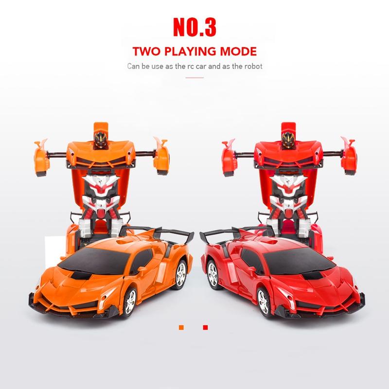 1-18-Transformadores-Coche-de-control-remoto-inalambrico-Juguete-para-ninos-G8G4 miniatura 12