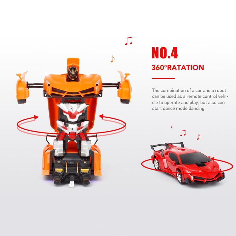 1-18-Transformadores-Coche-de-control-remoto-inalambrico-Juguete-para-ninos-F6C4 miniatura 23