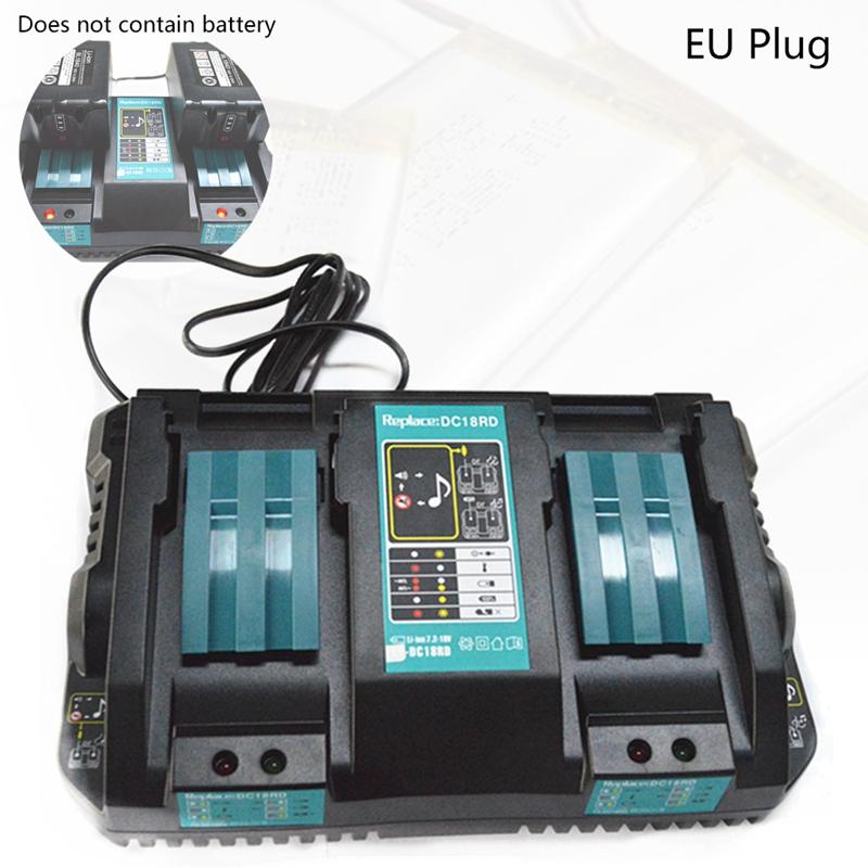 2X(Double chargeur de batterie pour Makita 14.4V 18V BL1830 Bl1430 DC18RC DC1 5P