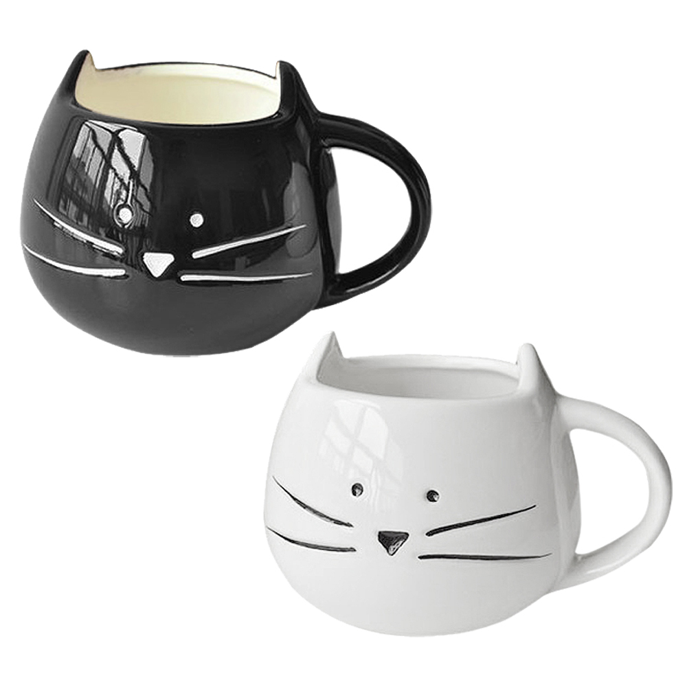 Cf503 Coffee Cup White Cat Animal Milk Cup Ceramic Lovers