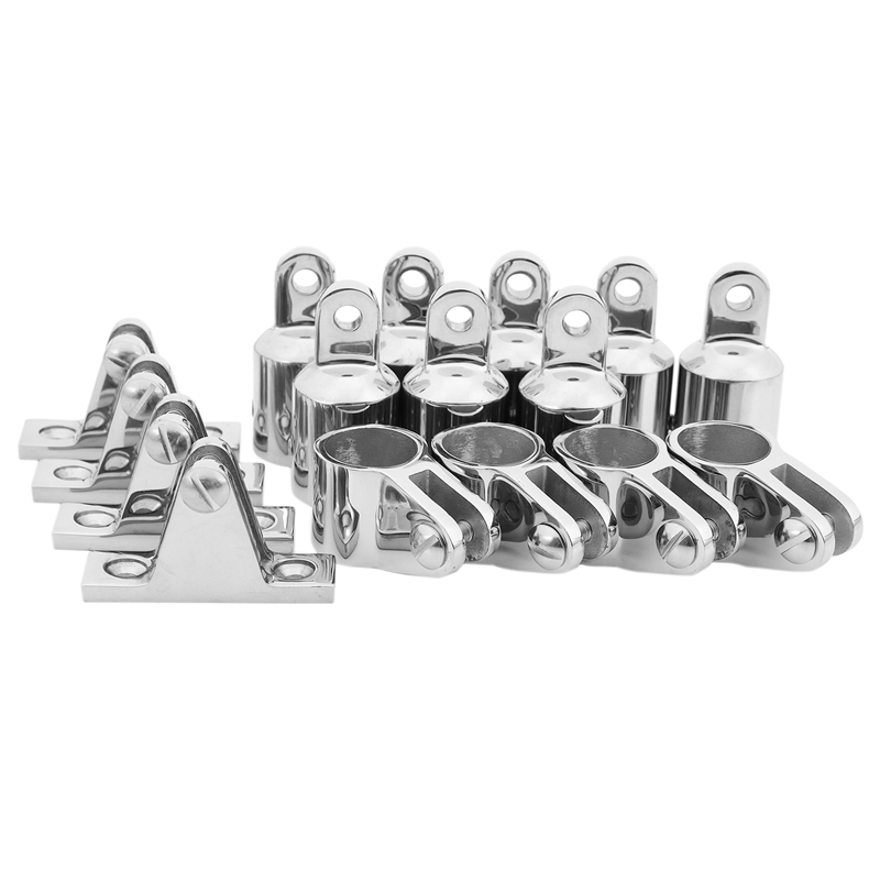 4 Bow 1 Inch Bimini Top Boat Stainless Steel Fittings Marine Hardware Set - G8M7